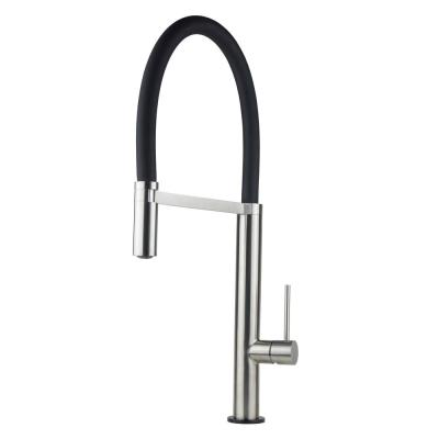 Luxurious Single Handle Pull-Down Kitchen Faucet in Brushed Nickel