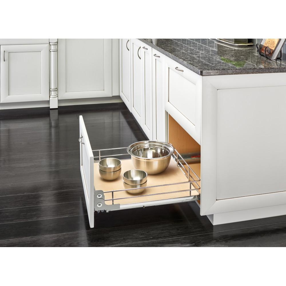 Rev-A-Shelf 15 in. Pullout Baskets with Gray Solid Bottom Rev-A-Shelf 15 in. Pullout Baskets with Gray Solid Bottom
