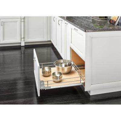 21 in. Pullout Baskets with Gray Solid Bottom