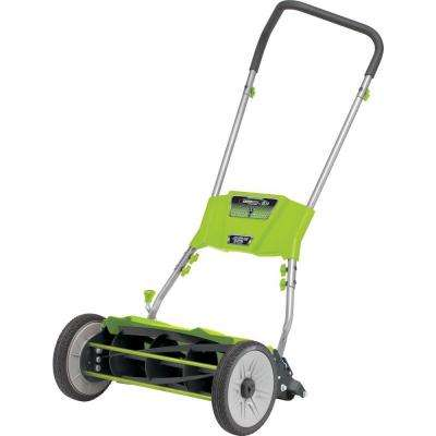 Quiet Cut 18 in. Manual Walk Behind Nonelectric Push Reel Mower - California Compliant
