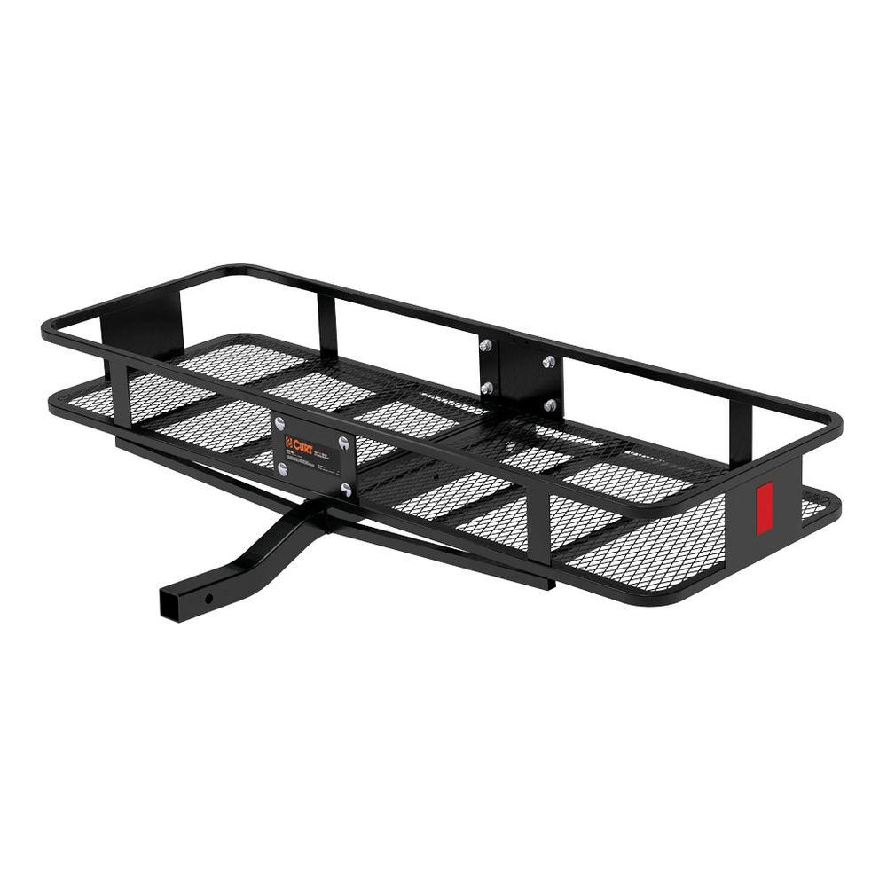 CURT 500 lb. Capacity 60 inch x 20 inch Steel Basket Style Hitch Cargo Carrier for 2 inch Receiver