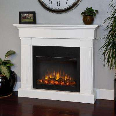 Crawford 47 in. Slim-Line Electric Fireplace in White