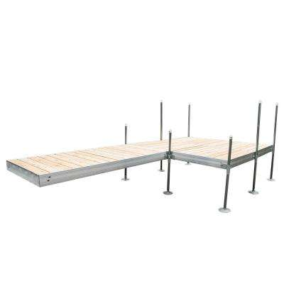16 ft. L-Style with 8 ft. x 8 ft. Platform Section Aluminum Frame with Cedar Decking Complete Dock Package