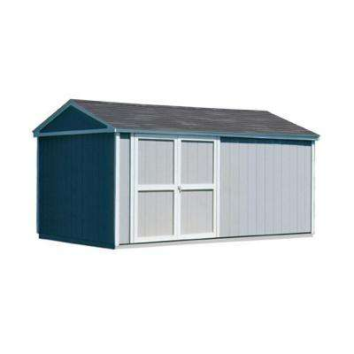 Somerset 10 ft. x 18 ft. Wood Storage Building with Floor Kit