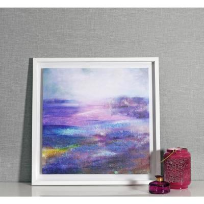 Aquarelle Framed Canvas with Hand Paint Wall Art