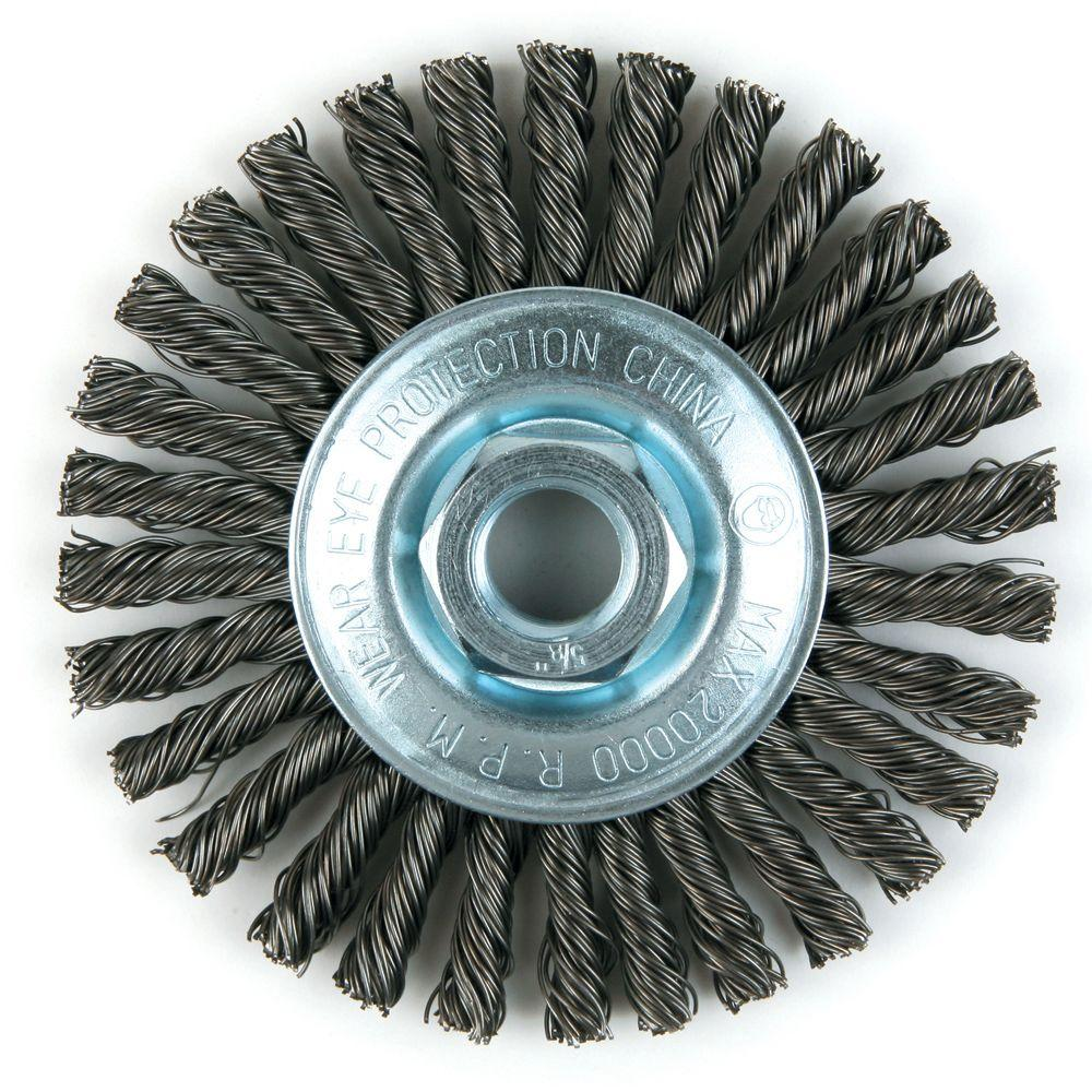 4 in. Stainless-Steel Stringer Bead Twist Brush