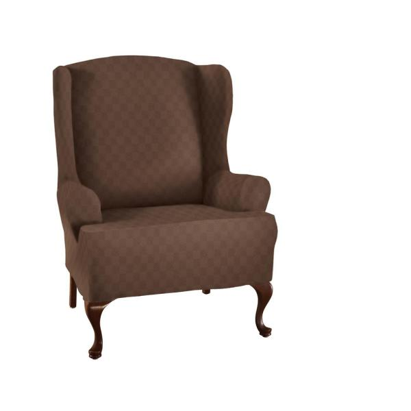 Optic Wing Chair Stretch Slipcover