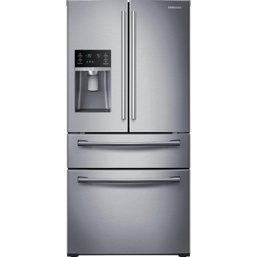 Samsung 28 15 Cu Ft 4 Door French Door Refrigerator In