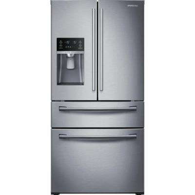 28.15 cu. ft. 4-Door French Door Refrigerator in Stainless Steel