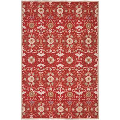 Chelsea Red/Ivory 5 ft. 3 in. x 8 ft. 3 in. Area Rug