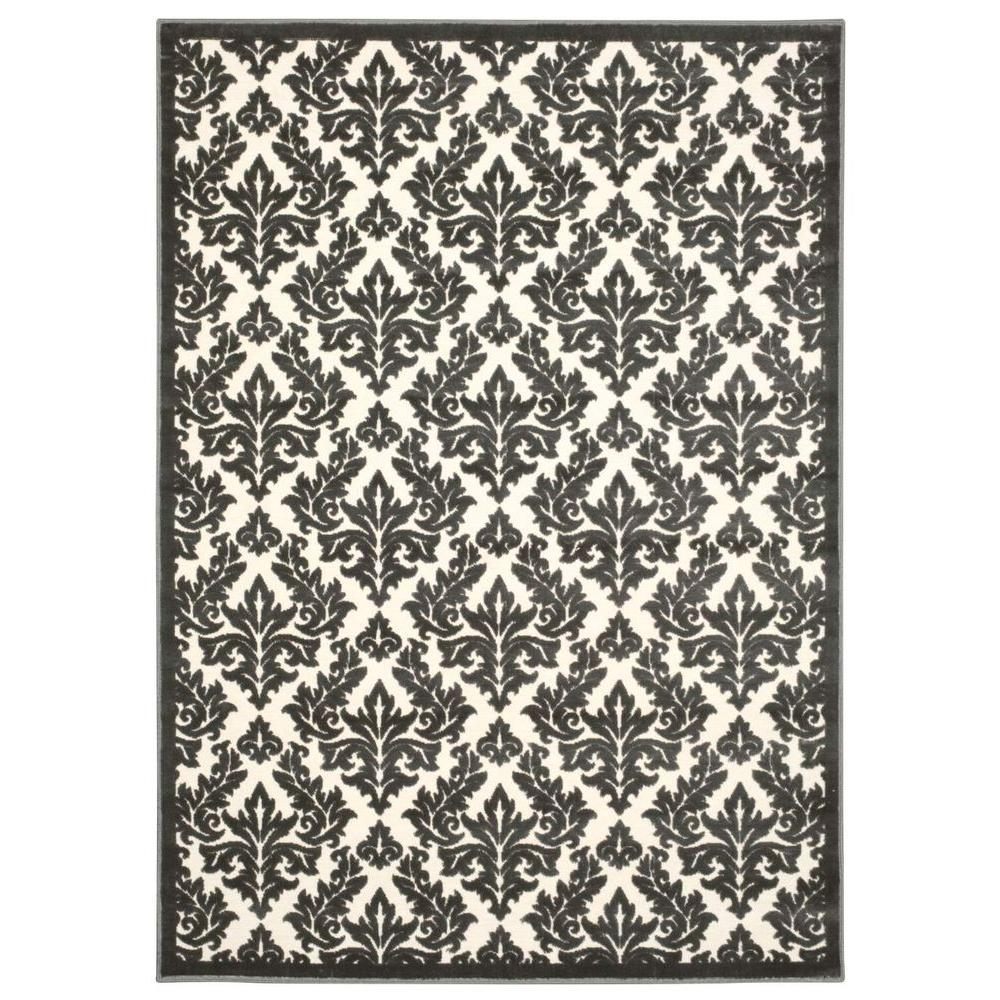 Ultima Ivory/Grey 8 ft. x 11 ft. Area Rug