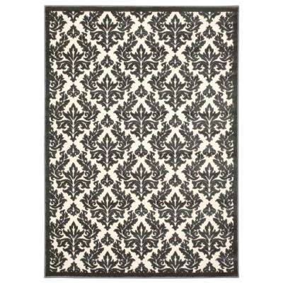Ultima Ivory/Grey 7 ft. 6 in. x 9 ft. 6 in. Area Rug