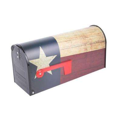 Post Mount Texas Flag Mailbox