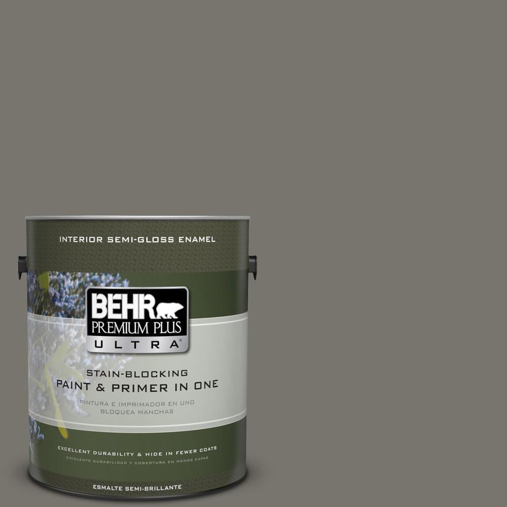 1 gal. #PPU24-06 Slippery Shale Semi-Gloss Enamel Interior Paint