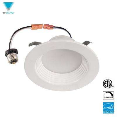 5 in. - 6 in. White 3500K Dimmable Round Integrated LED Recessed Retrofit DownLight Kit ETL and ENERGY STAR Certified