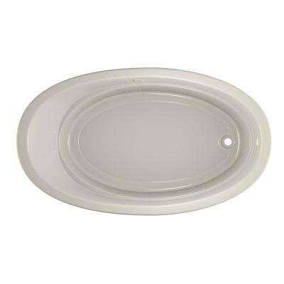 RIVA PURE AIR 72 in. x 42 in. Acrylic Right-Hand Drain Oval Drop-In Air Bath Bathtub in Oyster
