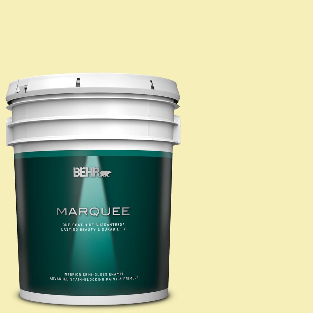 Behr Marquee 5 Gal 400a 2 Summer Resort Semi Gloss Enamel Interior Paint Primer 345005 The Home Depot