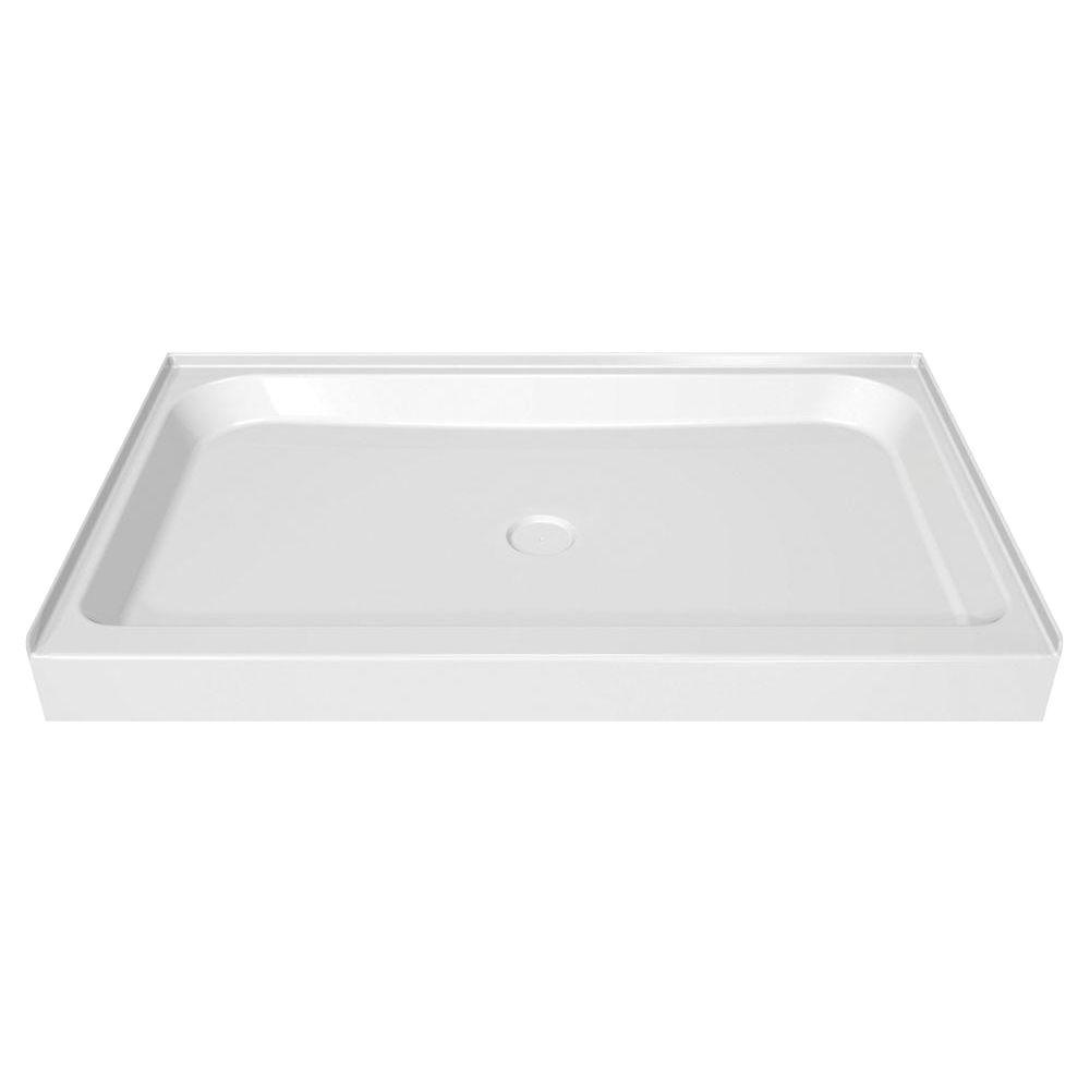 MAAX 48 in. x 34 in. Single Threshold Shower Base in White