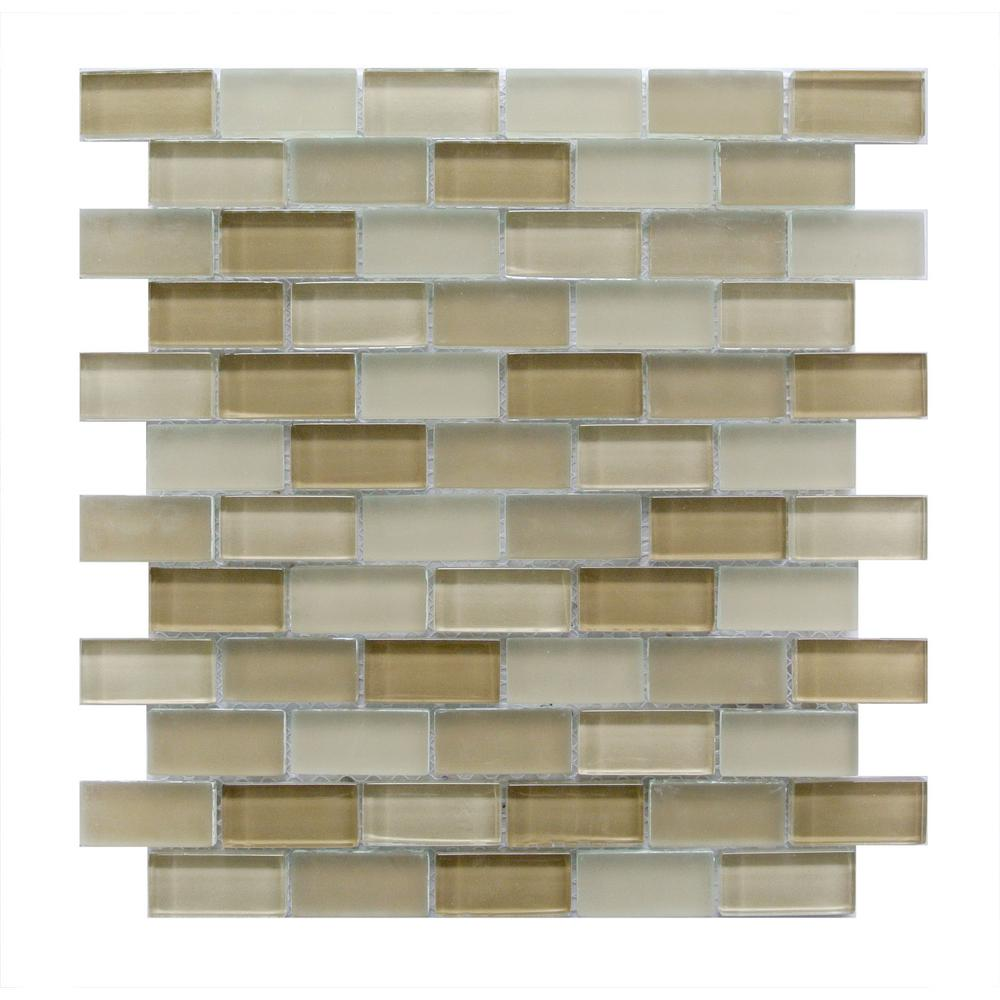 Free Flow Tan 12 in. x 12 in. x 8mm Glass