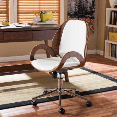 Watson White Faux Leather Upholstered Office Chair