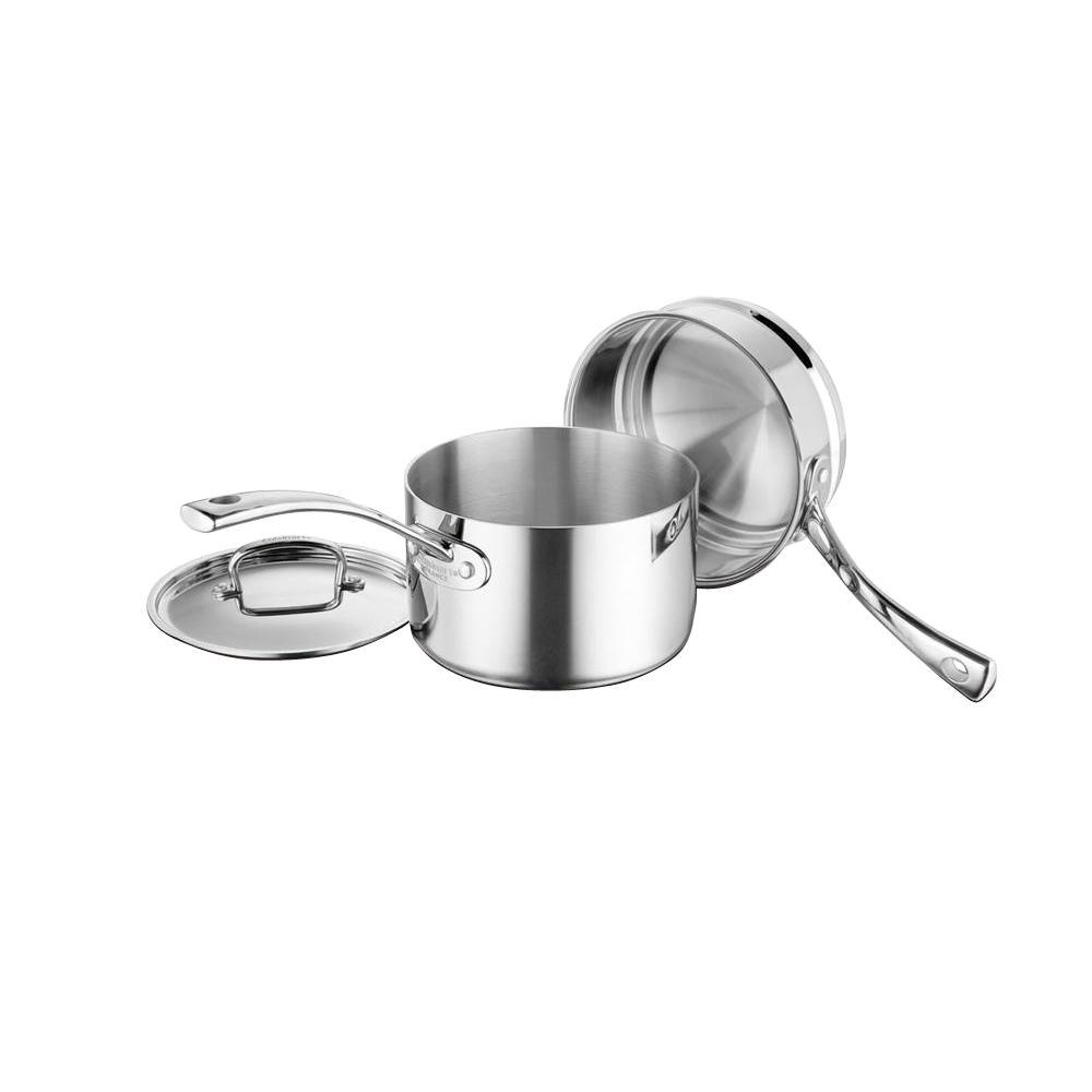Cuisinart 3-Piece Double Boiler Set (3 Qt. Saucepan with Cover and 18 cm Double Boiler)