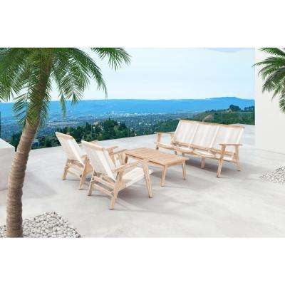 West Port Patio Sofa in White Wash and White