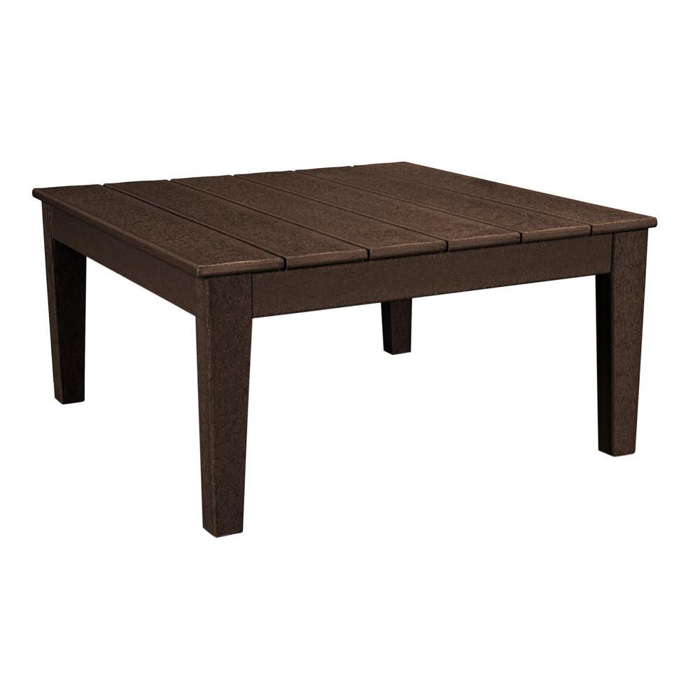 Polywood Newport 36 In Square Plastic Outdoor Coffee Table Mnt36ma The Home Depot
