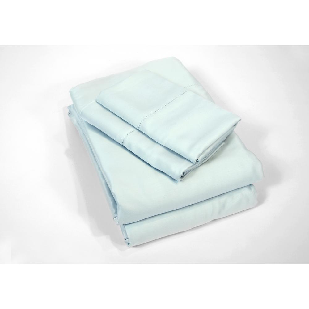 100% Rayon from Bamboo Sky (Blue) Queen Sheet Set