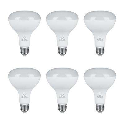 65W Equivalent Warm Light BR30 Dimmable LED Light Bulb (6-Pack)