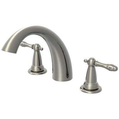 2-Handle Roman Tub Faucet in Brushed Nickel