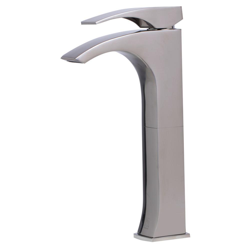 AB1587-BN Single Hole Single-Handle Bathroom Faucet in Brushed Nickel