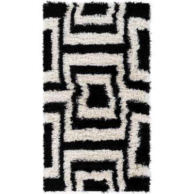 Winfield Black 2 ft. x 3 ft. 7 in. Indoor Area Rug