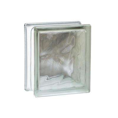 Nubio 5.75 in. x 7.75 in. x 3.875 in. Wave Pattern Glass Block (8-Pack)
