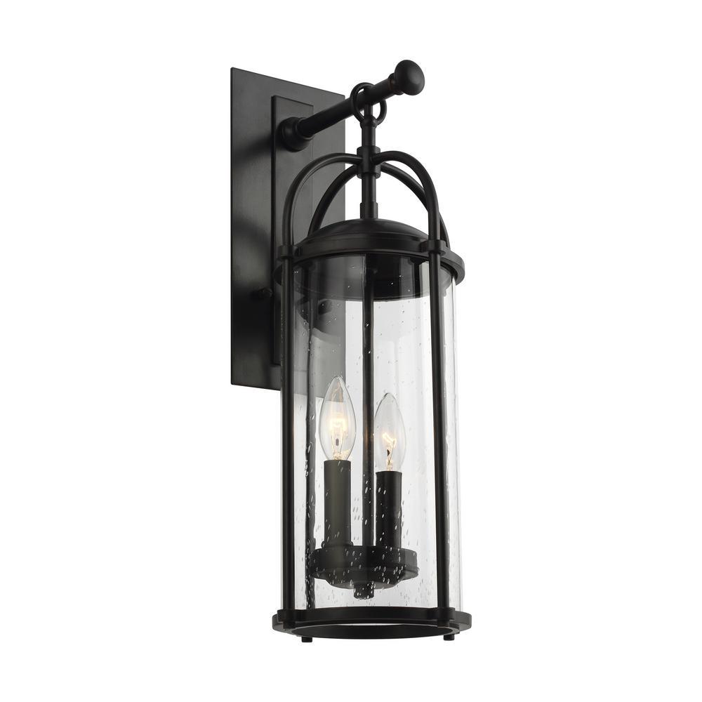 Dakota 2-Light Espresso Outdoor 20.625 in. Wall Lantern Sconce