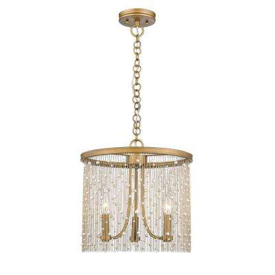 Marilyn PRL 3-Light Peruvian Gold and Pearl Pendant