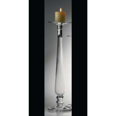 Bonaparte Clear Glass Candle Holder