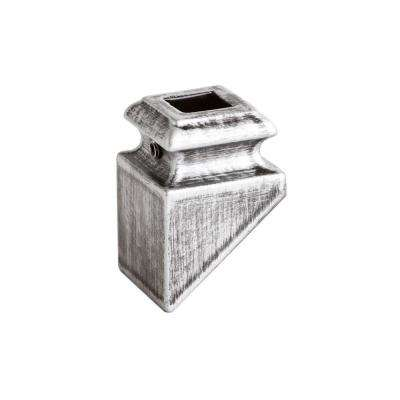 Square Hole 1.3125 in. Aluminum Angled Shoe Baluster Shoe Antique Nickel