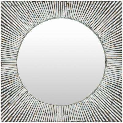 Vinter 23.6 in. x 23.6 in. Mother of Pearl Framed Mirror