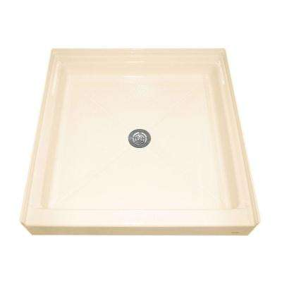 Square Alcove 32 in. x 32 in. Single Threshold Shower Base in Bone