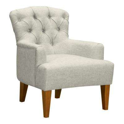 Jewel Beige Fabric Accent Chair
