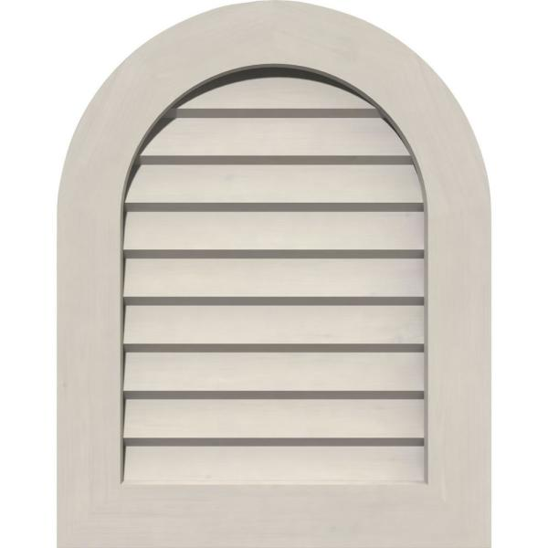 Ekena Millwork 35 In X 33 In Round Top Primed Smooth Western Red Cedar Wood Paintable Gable Louver Vent Gvwrt30x2802sdpwr The Home Depot