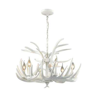 Big Sky 6-Light White Chandelier