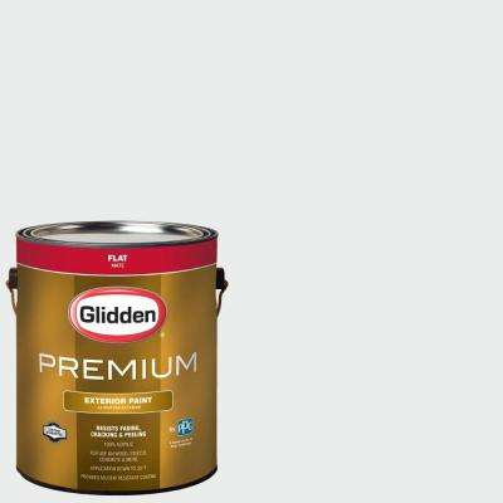 1-gal. #HDGCN56 Drifting Snow Flat Latex Exterior Paint