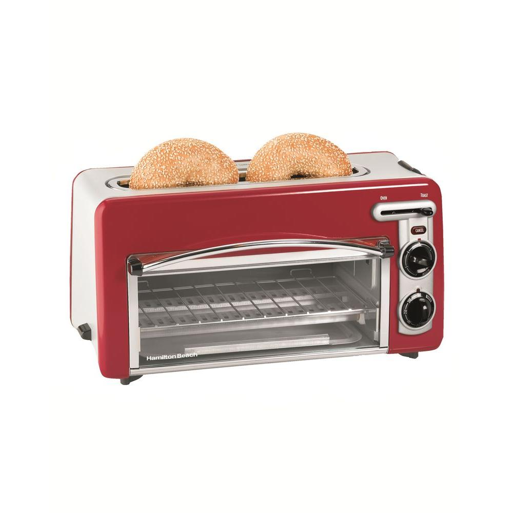 Hamilton Beach 1.5 in. Toastation in Red-DISCONTINUED