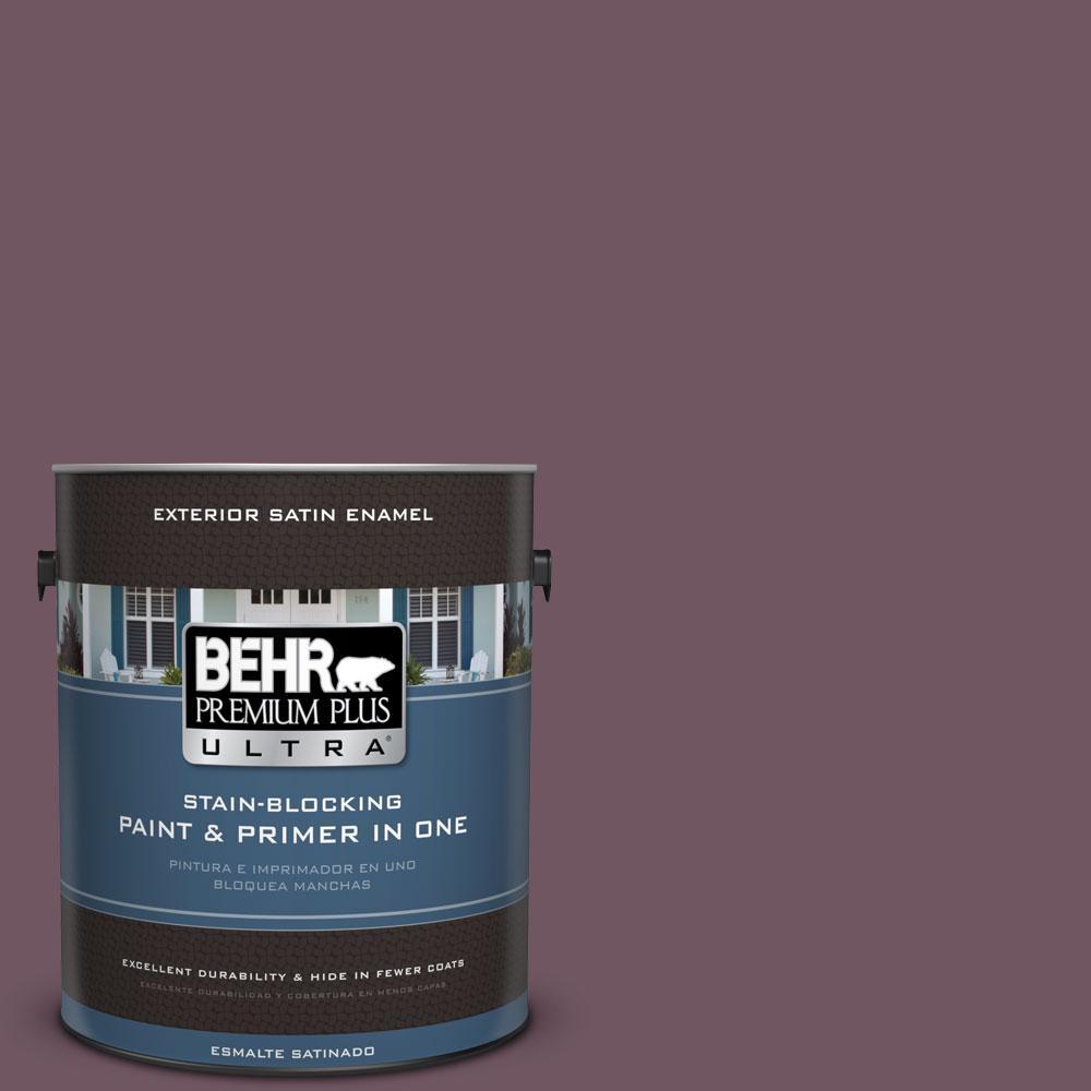 BEHR Premium Plus Ultra 1-gal. #S110-7 Exotic Eggplant Satin Enamel Exterior Paint