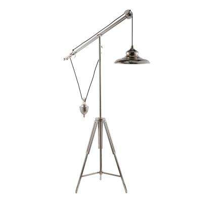 Quillon Balancing Silver Floor Lamp