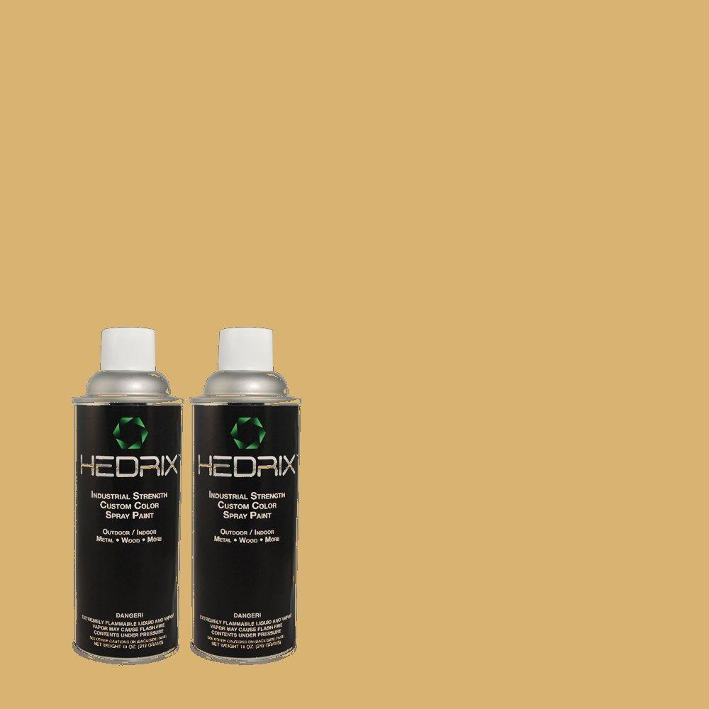 Hedrix 11 oz. Match of 340F-5 Beachwalk Flat Custom Spray Paint (2-Pack)