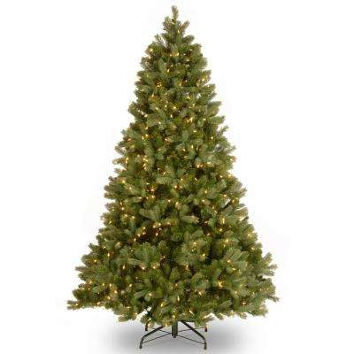 7.5 ft. Pre-Lit Green Douglas Fir Down Swept Artificial Christmas Tree with Clear Lights
