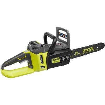 Reconditioned 14 in. 40-Volt Lithium-Ion Brushless Electric Cordless Chainsaw