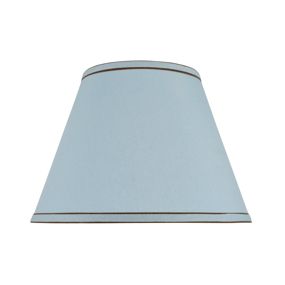 13 in. x 9.5 in. Light Blue Hardback Empire Lamp Shade